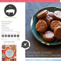 Chocolate Covered Peanut Butter Ritz Sandwich recipe