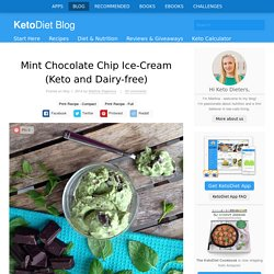 Mint Chocolate Chip Ice-Cream (Keto and Dairy-free)