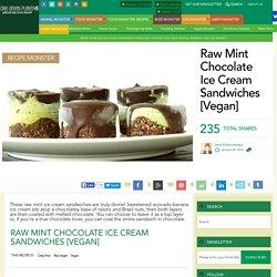 Raw Mint Chocolate Ice Cream Sandwiches [Vegan]