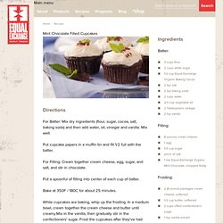 Equal Exchange - Mint Chocolate Filled Cupcakes