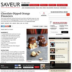 Chocolate-Dipped Orange Financiers Recipe