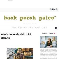 mint chocolate chip mini donuts ~ Back Porch Paleo