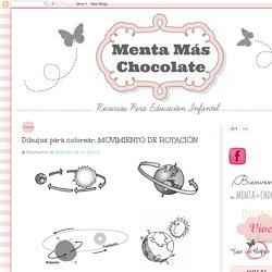 Menta Más Chocolate - RECURSOS PARA EDUCACIÓN INFANTIL: Dibujos para colorear: MOVIMIENTO DE ROTACIÓN