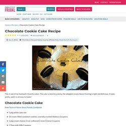 Chocolate Cookie Cake Recipe