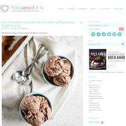 Milk Chocolate Fudge Goat Cheese Ice Cream