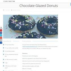 Chocolate Glazed Donuts – WEDO Banana Flour