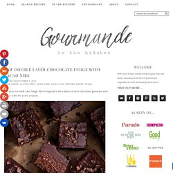 Raw Chocolate Fudge Recipe