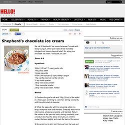 Shepherd's chocolate ice cream recipe