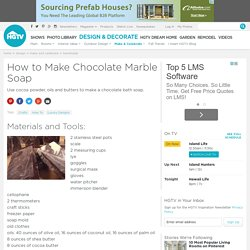 How to Make Chocolate Marble Soap