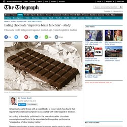 Eating chocolate 'improves brain function' - study