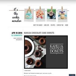 Kahlua Chocolate Cake Donuts