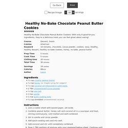 Healthy No-Bake Chocolate Peanut Butter Cookies - JoyFoodSunshine