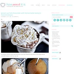 Grown Up Hot Chocolate with Homemade Bailey's Marshmallows