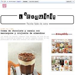 Crema de chocolate y canela con mascarpone y crujiente de almendras