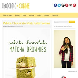 White Chocolate Matcha Brownies - chocolate + connie