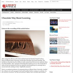 Chocolate May Boost Learning