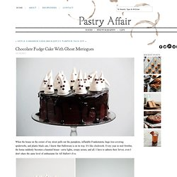Pastry Affair - Home - Chocolate Fudge Cake with Ghost Meringues