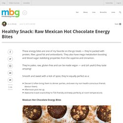 Healthy Snack: Raw Mexican Hot Chocolate Energy Bites