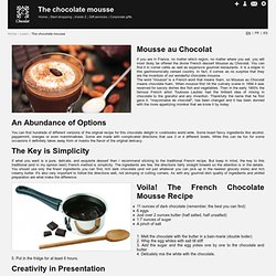 The French Chocolate mousse