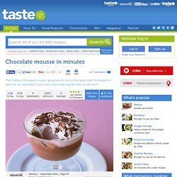 Chocolate Mousse In Minutes Recipe