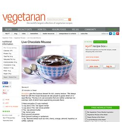 Live Chocolate Mousse Recipe