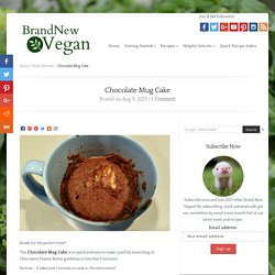 Chocolate Mug Cake - Brand New Vegan