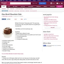 One-Bowl Chocolate Cake | Life Made Easy