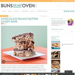 Chocolate Peanut Butter Candy Bars — Buns In My Oven