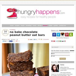 no bake chocolate peanut butter oat bars - Hungry Happens!