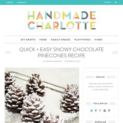 Quick and Easy Snowy Chocolate Pinecones Recipe