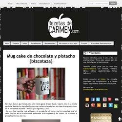 rezetas de carmen: Mug cake de chocolate y pistacho {bizcotaza}