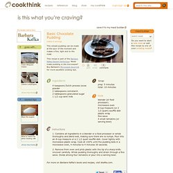 Basic Chocolate Pudding | Cookthink