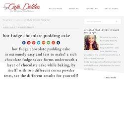 Hot Fudge Chocolate Pudding Cake - Cafe Delites