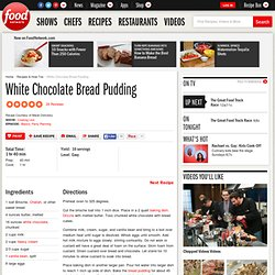 White Chocolate Bread Pudding Recipe : : Recipes