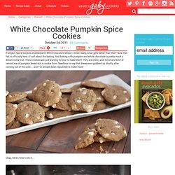White Chocolate Pumpkin Spice Cookies