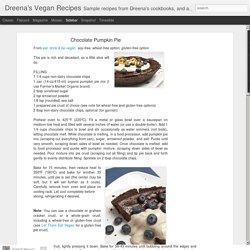 Dreena's Vegan Recipes: Chocolate Pumpkin Pie