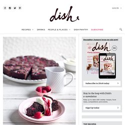 Dark Chocolate and Raspberry Brownie - Dish