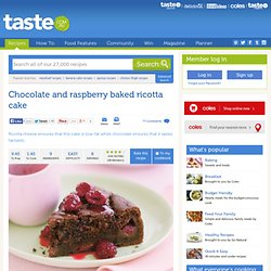 Chocolate And Raspberry Baked Ricotta Cake Recipe