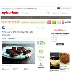 Chocolate Dulce de Leche Bars Recipe at Epicurious