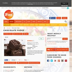 Chocolate fudge: Recipes: Good Food Channel