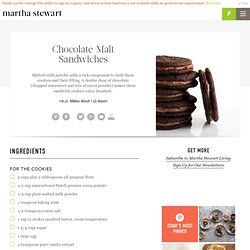 Chocolate-Malt Sandwiches