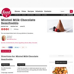 Minted Milk Chocolate Semifreddo Recipes