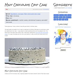 Mint Chocolate Chip Cake - Semisweetie, A geeky baking and recipe blog