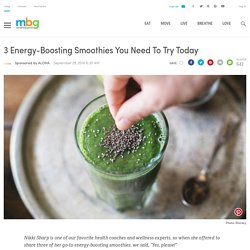 Health Coach Nikki Sharp's favorite chocolate, strawberry, and green smoothies