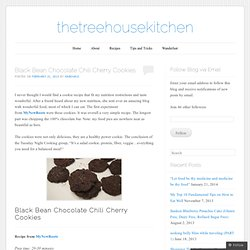 Black Bean Chocolate Chili Cherry Cookies | thetreehousekitchen