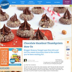 Chocolate Hazelnut Thumbprints How-To from Pillsbury