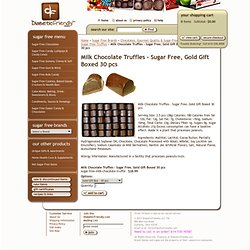 Milk Chocolate Truffles - Sugar Free, Gold Gift Boxed 30 pcs