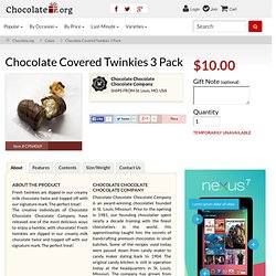 Covered Twinkies 3 Pack - Gift Delivery - Send Chocolate from Chocolate.com