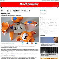 Chocolate the key to uncovering PC passwords