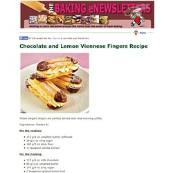 Chocolate and Lemon Viennese Fingers Recipe